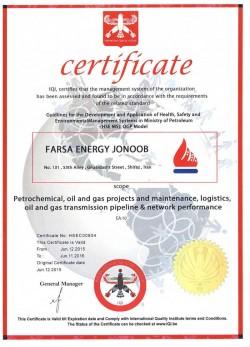 FARSA Energy Jonoob HSE MS